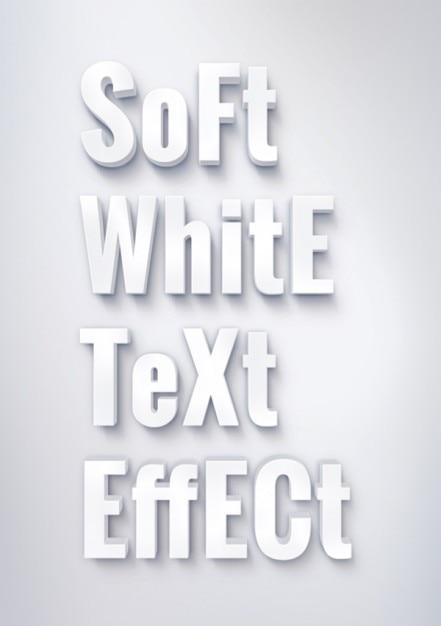 柔らかな白いテキスト効果 無料ベクター