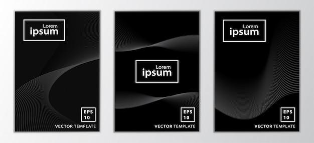 Набор минимальных бизнес дизайн обложки брошюры Premium векторы