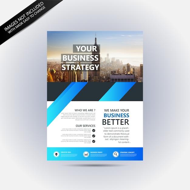 ビジネスパンフレットのモックアップ Premiumベクター