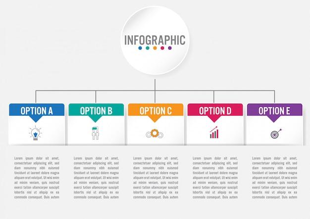 Шаблон бизнес инфографики Premium векторы