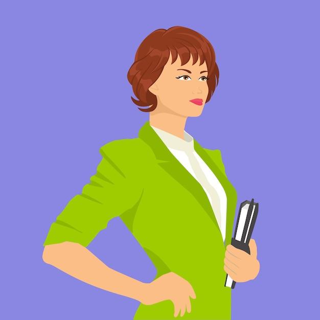 働く女性のイラスト ベクター画像 プレミアムダウンロード