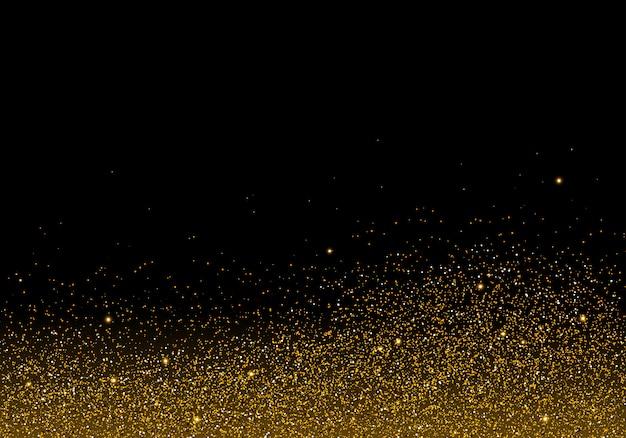 黒の背景に黄金の輝きの質感 Premiumベクター