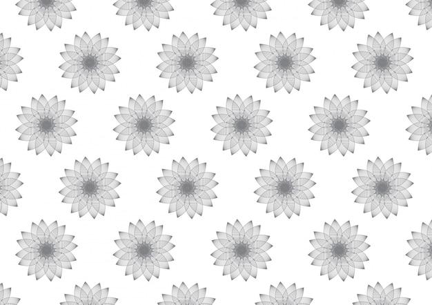 線形花びら花パターン背景のベクトル Premiumベクター