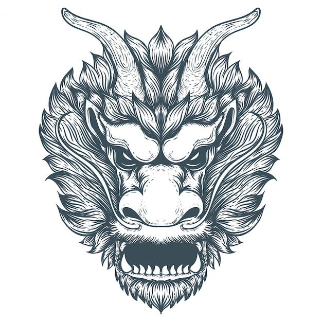 Иллюстрация иллюстрации китайского дракона Premium векторы