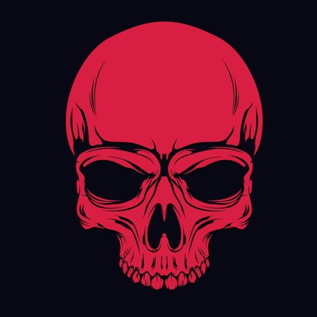 赤い頭蓋骨 Premiumベクター