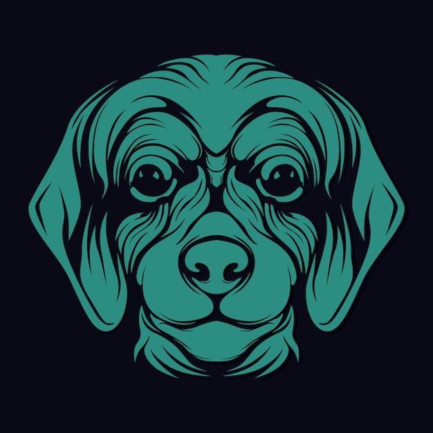 犬顔 Premiumベクター
