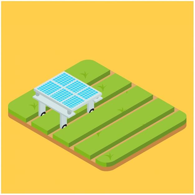 アイソメトリックオートメーションスマート農業、ベクトルイラスト Premiumベクター