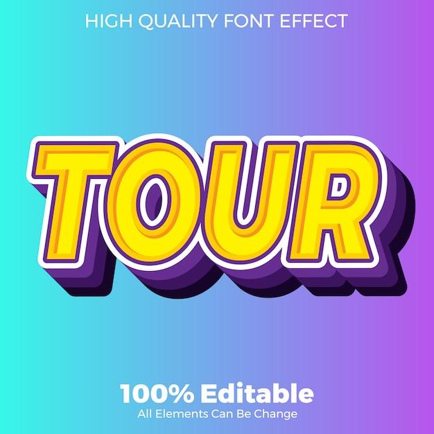 Современный и красочный стиль, редактируемый эффект шрифта Premium векторы