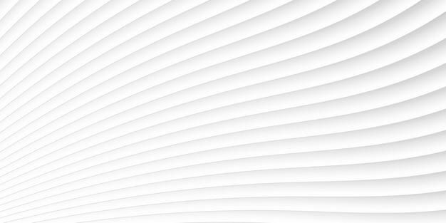 灰色の白い波と線のパターン Premiumベクター