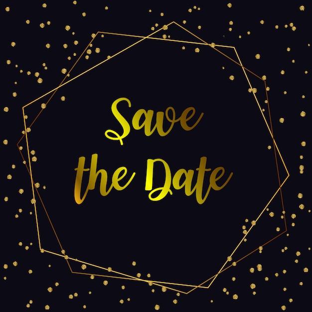 Свадебные пригласительные билеты. фон и золотые геометрические линии дизайн вектор. Premium векторы