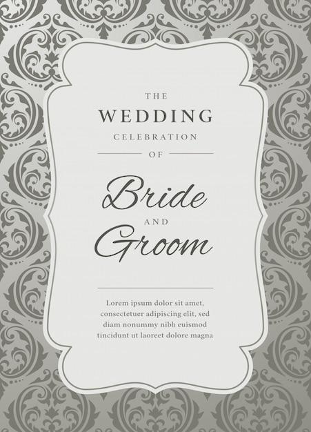 結婚式の招待状のテンプレート Premiumベクター