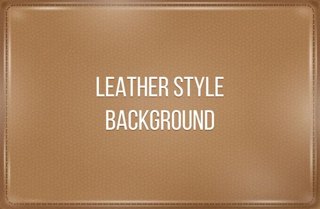 Кожаный стиль с коричневым фоном Premium векторы