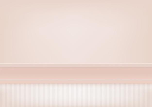 Пустая пастель розовая полка, макет для отображения продукта. Premium векторы