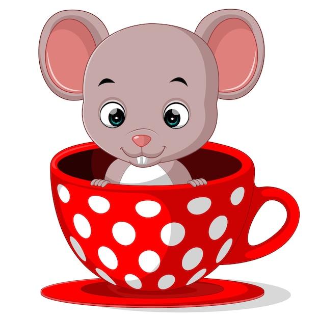 мышка в чашке картинки рисунки один несомненный