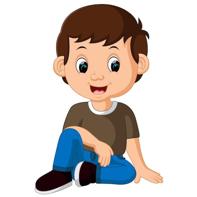 Картинки сидящий мальчик