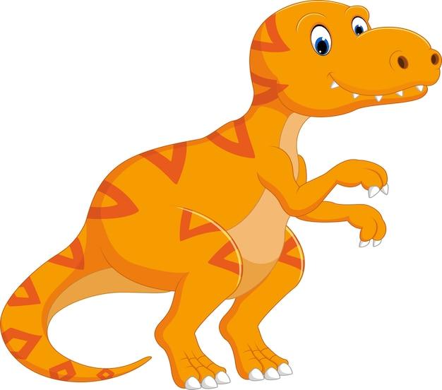 ティラノサウルス漫画 Premiumベクター