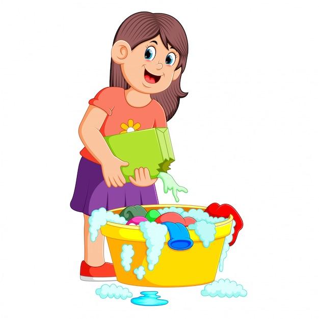 Картинка мама стирает для детей