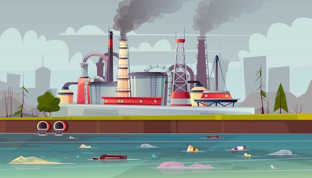 環境汚染の背景 無料ベクター