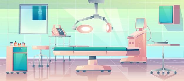 Иллюстрация комнаты хирургии Бесплатные векторы