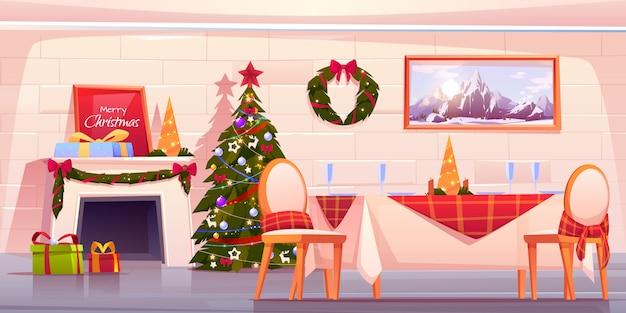 Счастливый семейный рождественский ужин, празднование праздника Бесплатные векторы
