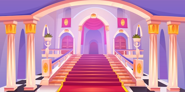 Иллюстрация лестницы замка Бесплатные векторы