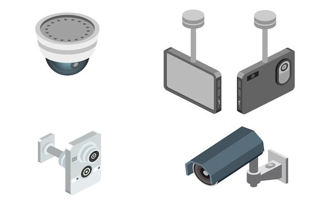 Иллюстрация системы охранной сигнализации Бесплатные векторы