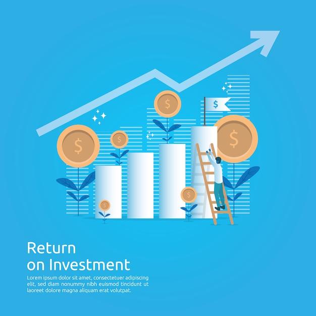 投資収益率 Premiumベクター