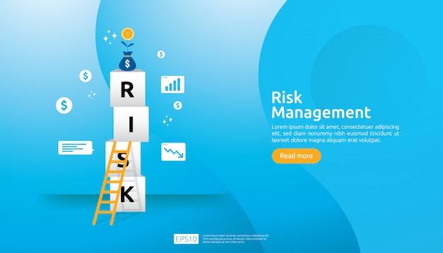 Иллюстрация управления рисками Premium векторы