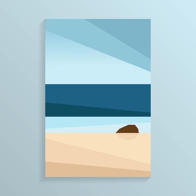 Побережье море вид на тропический океан белый пляж Premium векторы