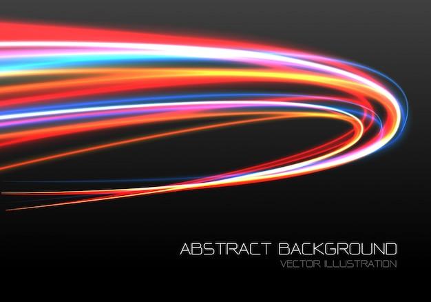 Быстрая скорость кривой движения черный фон. Premium векторы