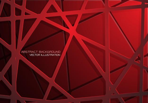 赤いメッシュラインクロスパターン重複影の背景。 Premiumベクター