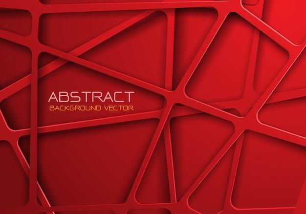 赤いトーンメッシュラインクロスパターンオーバーラップの背景。 Premiumベクター