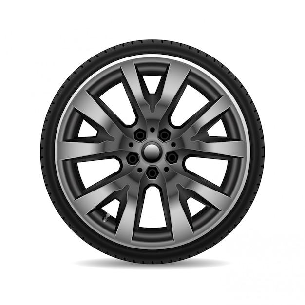 アルミホイールカータイヤ Premiumベクター