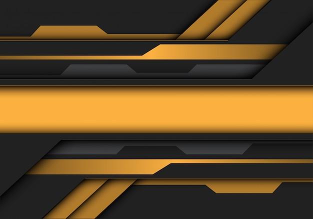 黄色灰色メタリックバナー回路未来的な背景。 Premiumベクター