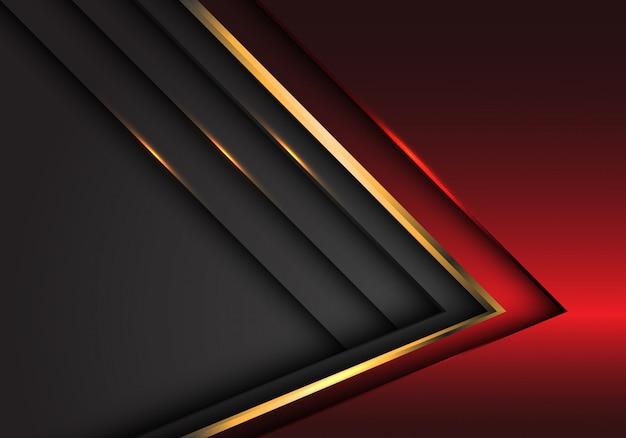 抽象的な赤灰色金金属の豪華な重複デザインモダンな未来的な背景 Premiumベクター