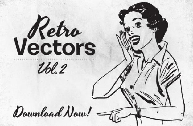 レトロスタイルのアートワークのイラスト ベクター画像 無料ダウンロード