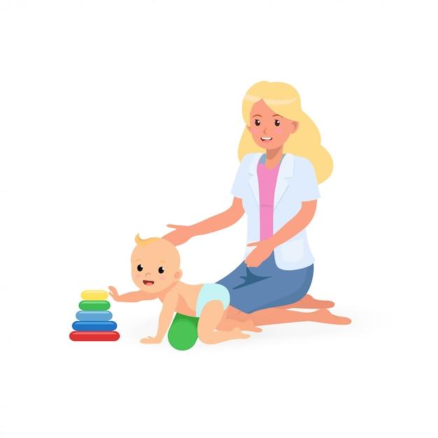子どもの発達スクリーニングのための作業療法治療セッション Premiumベクター