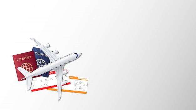 Концепция дизайна фона путешествия Premium векторы
