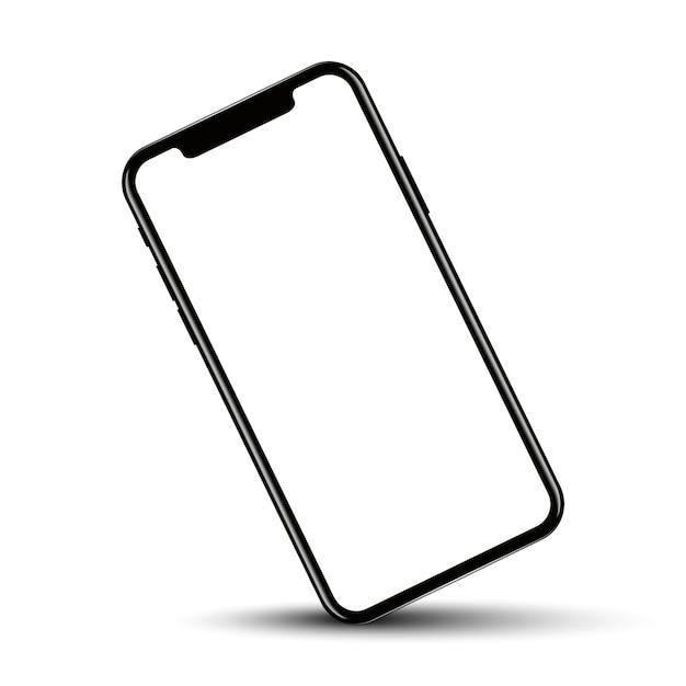 Смартфон повернул положение с пустым экраном Premium векторы