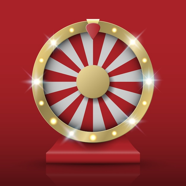 Вращающееся колесо фортуны Premium векторы