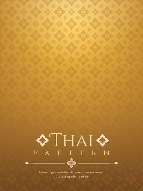 Современный тайский фон Premium векторы