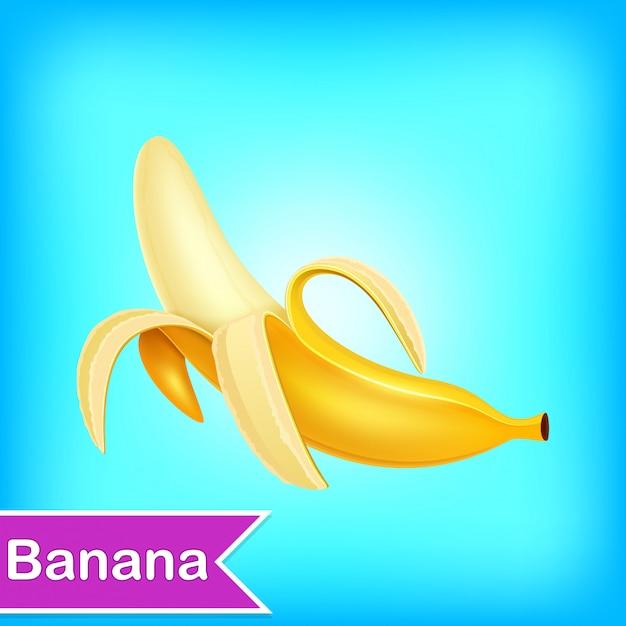 バナナのベクトルイラスト Premiumベクター