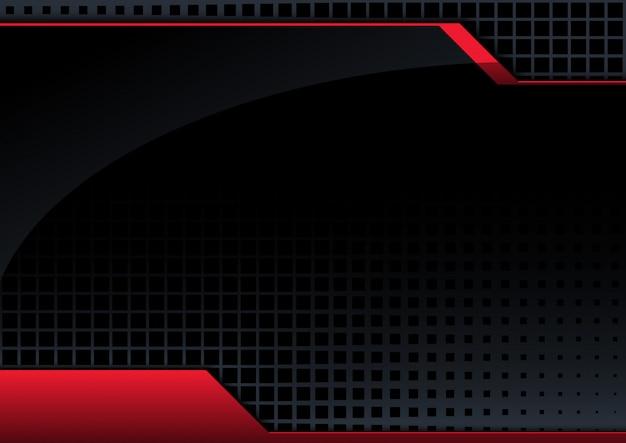 黒の抽象的な技術の背景 Premiumベクター