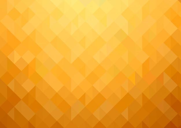 ゴールドオレンジの幾何学的なモザイクの背景 Premiumベクター