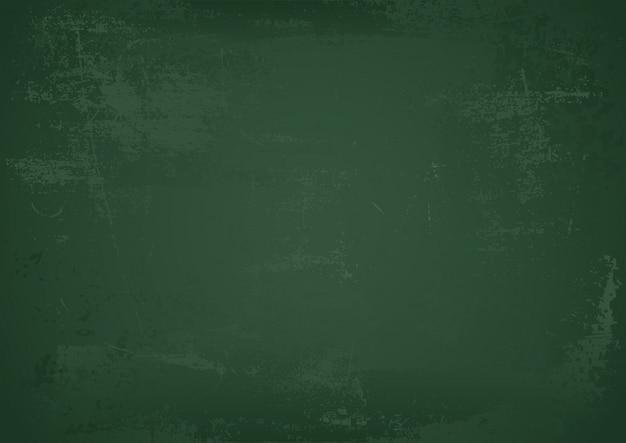 緑の空の学校の黒板背景 Premiumベクター