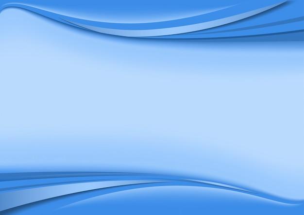 Фон с полосами волны в голубых тонах Premium векторы