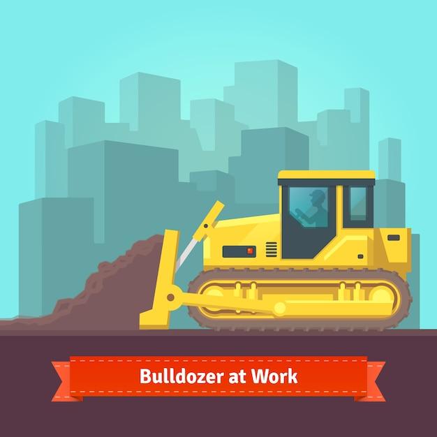 掘削機のトラクター平地 無料ベクター