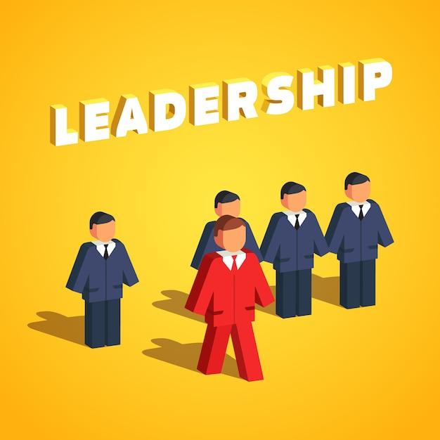 リーダーシップと起業家概念 無料ベクター