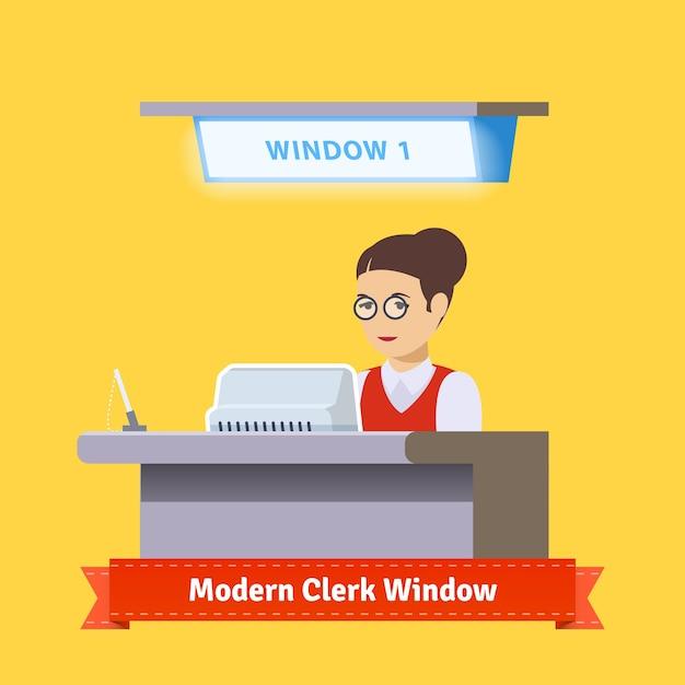 現代のテクノロジー窓口の窓 無料ベクター