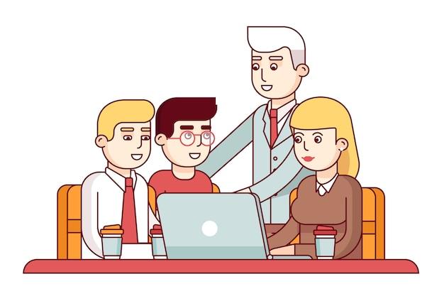 若い従業員のチーム 無料ベクター